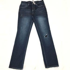 FALLS CREEK woman's Slim Straight blue jean SZ 16
